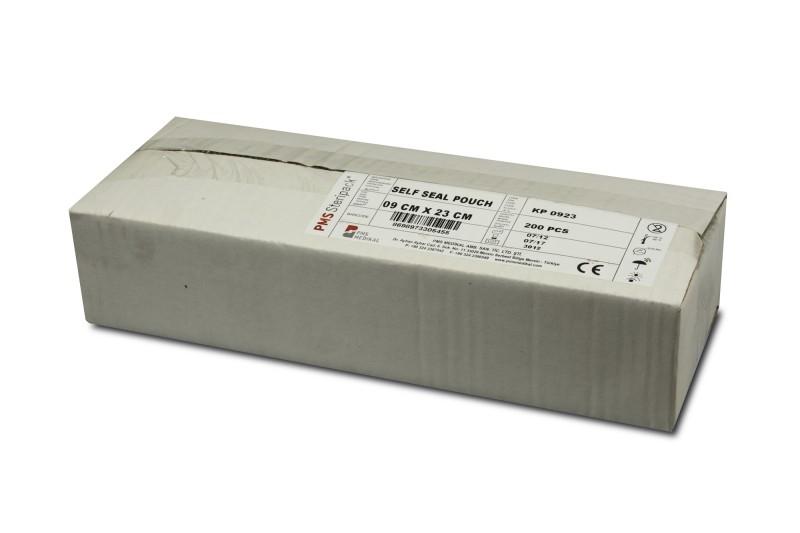 Sáček plochý papír/fólie Steripack 90 x 230 mm, samolepící, 200 ks