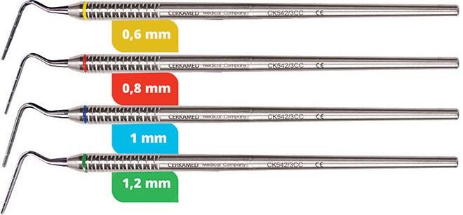 Set - cpátka gutaperčových čepov Plugger s ryskou