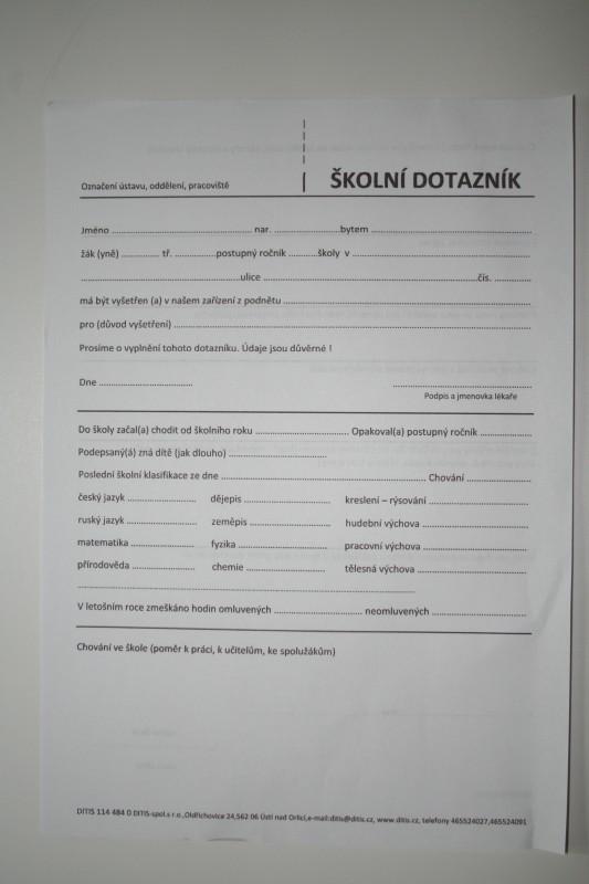 Školní dotazník
