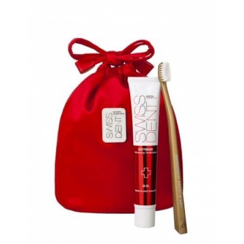 Swissdent sada Gold, zubná pasta Swissdent Extreme 50 ml + zubná kefka Swissdent