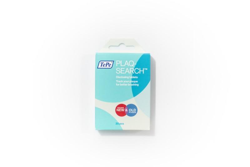 TePe PlaqSearch tabletky pre indikáciu zubného plaku, 10 ks