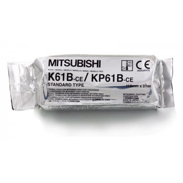Termocitlivý papier Mitsubishi KP61-B, 110 mm x 20 m, matný povrch