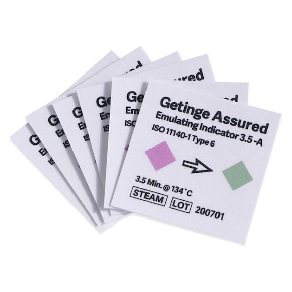 Test sterilizace pára, multiparam. Getinge, tř. 6, samolepící, 250 ks