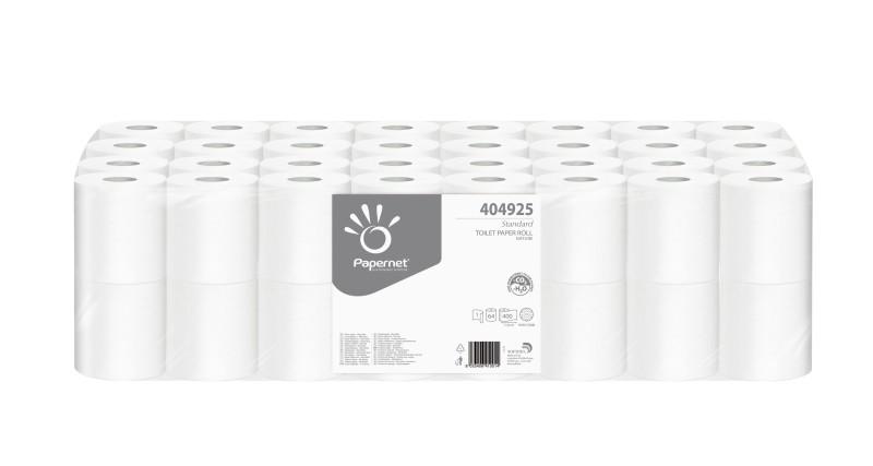 Toaletní papír Papernet, 1-vrstvý, recykl, 64 rolí v balení