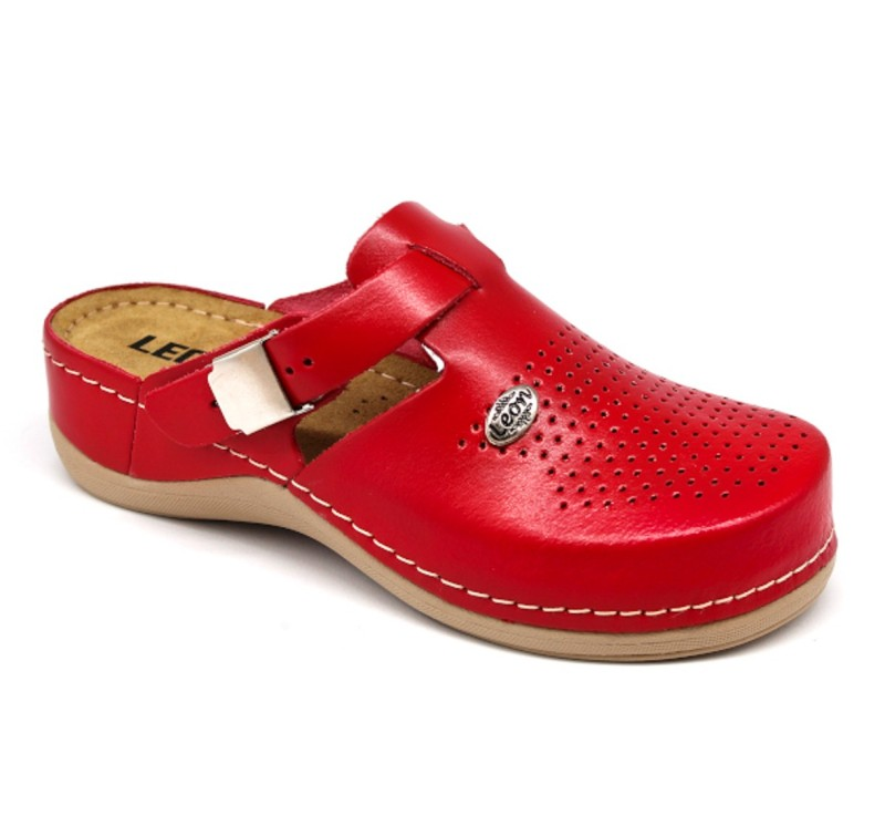 Topánky Luna farba červená, dámske