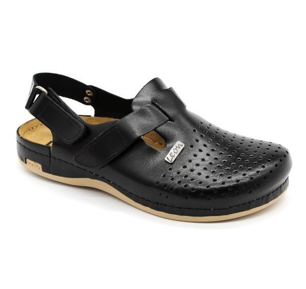 Topánky Lyra Man s pásikom, čierne, pánske