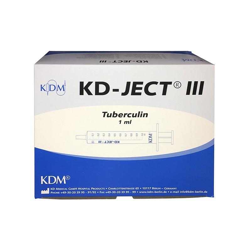 Tuberkulínová injekční stříkačka bez jehly KDM 1 ml, 100 ks