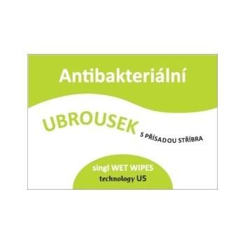 Ubrousky antibakteriální se stříbrem, jednotlivě balené, 10 ks