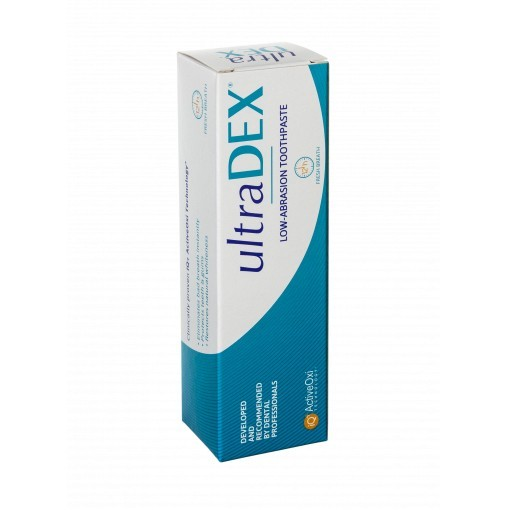 UltraDEX nízkoabrazivní zubní pasta, s fluoridy, 75 ml