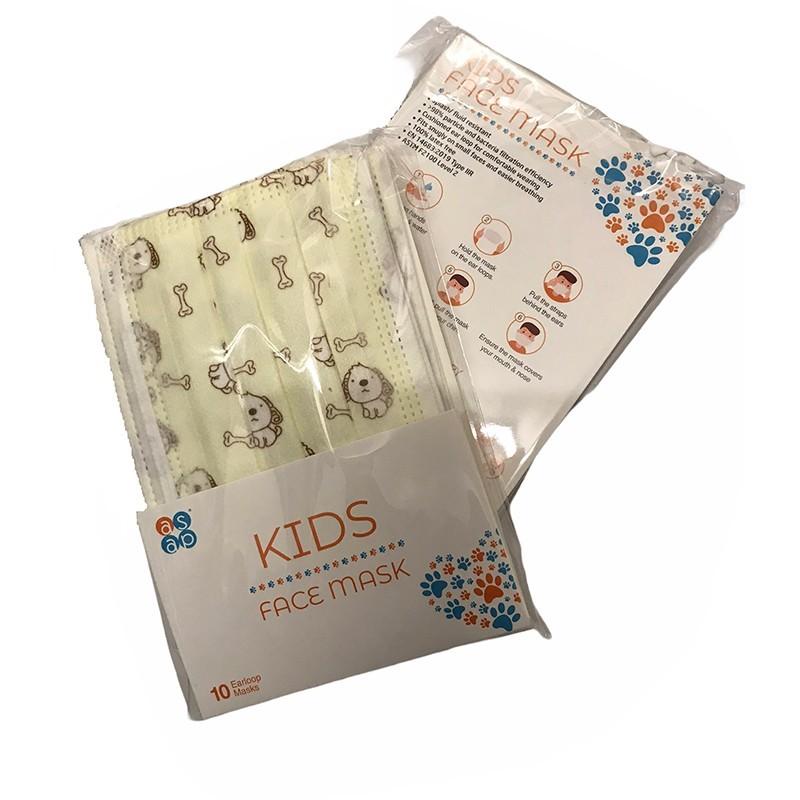 Ústenky s gumičkou dětské, IIR, 10 ks