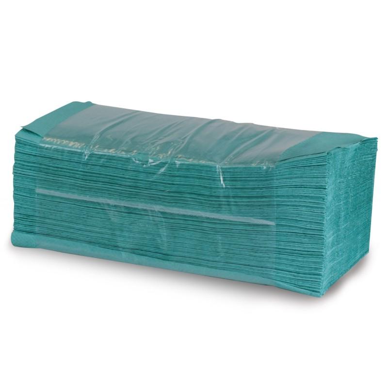 Utierky zelené, skladané Z-Z, 1-vrstvové, 5000 ks