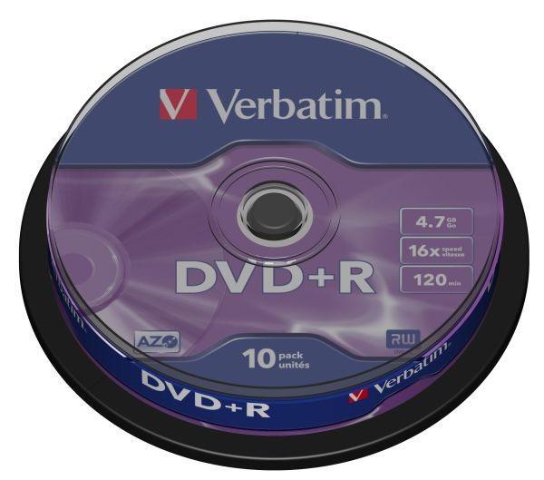 Verbatim DVD+R 4,7GB 16x, 10ks