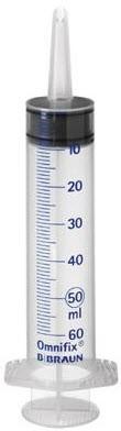 Výplachová injekčná striekačka Omnifix BBraun 50/60 ml