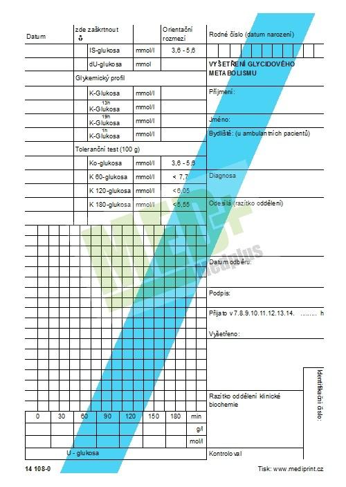 Vyšetření glycidového metabolismu