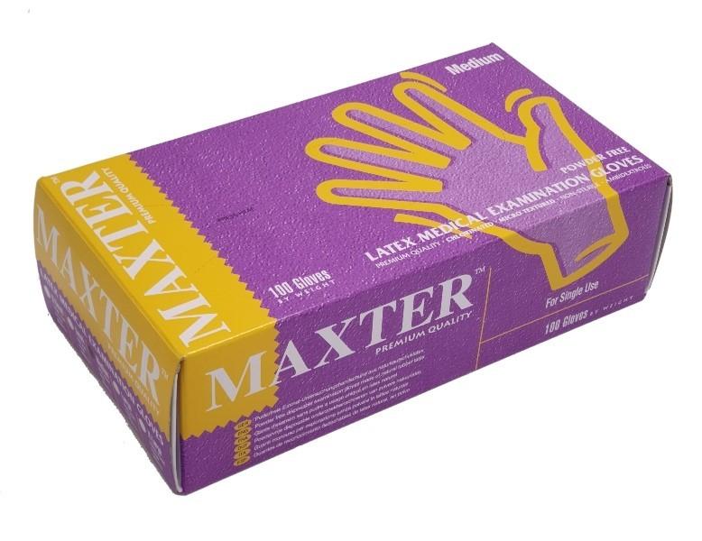 Vyšetřovací rukavice Maxter latex, nepudrované, 100 ks