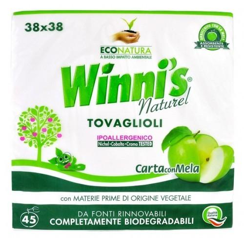 Winni's Naturel papírové ubrousky, 45 ks