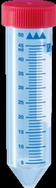 Zkumavka Sarstedt 50 ml, červený uzávěr, sterilní, 1 ks