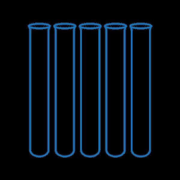 Zkumavky skleněné na vzorky 16 mm, 16 x 100 x 0,8 mm, 78 ks
