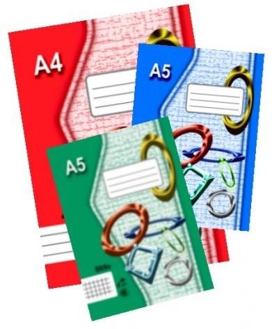 Zošit A6 644 recyklovaný, linka, 40 listov
