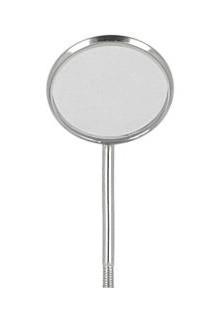 Zrkadielko zubné ploché, veľkosť 5 (24 mm), 12 ks