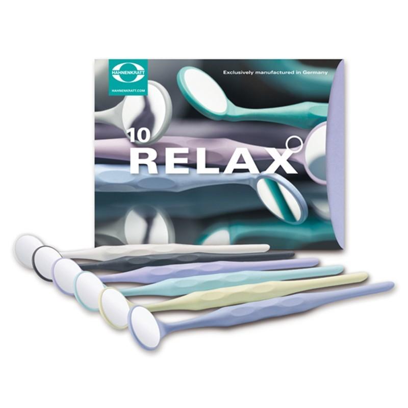 Zubné zrkadielko Relax FS Ultra, krištáľové, mix farieb, 10 ks