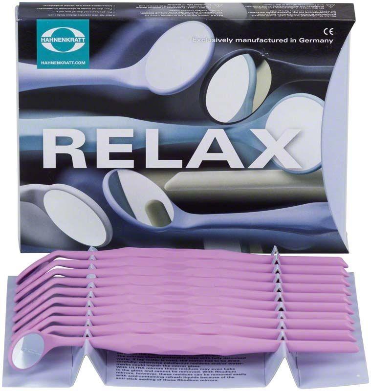 Zubní zrcátko Relax FS Ultra, křišťálové, vel. 4, plochá, 10 ks