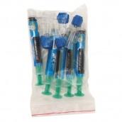 Blue Etch, sada označených stříkaček 5 x 3 ml + 5 ks konektorů s krytkami