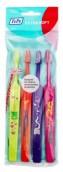 Dětský zubní kartáček TePe Select Compact Kids, X-Soft, 3+1 v sáčku