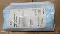 DOPREDAJ Ústenky s gumičkou 3-vrstvové Batist immunity modré, 50 ks