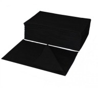 Jednorázové utěrky z vlákniny perforované, 70 x 40 cm, černé, 50 ks