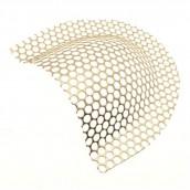 Medin zosiľovacia mriežka pozlátená 60 x 54 x 12 mm
