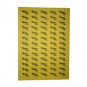 Nálepka 0 Rh - žlutá s pruhem (1 nálepka), 5 archů, 100 ks