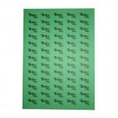 Nálepka B Rh - zelená s pruhem (1 arch = 65 nálepek)