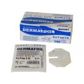 Náplast Dermafoil I.V. 6 x 7 cm sterilní, průhledná převazová fólie s výřezem, 1 ks