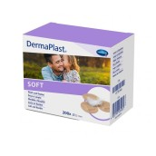 Náplast DermaPlast Soft, průměr 22 mm, kulatá, 200 ks