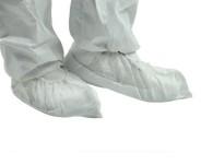 Návleky na obuv PP, barva bílá, protiskluzová podrážka, pár
