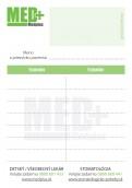 Objednávacie kartičky, blok pre pacientov SK MEDPLUS, 50 ks