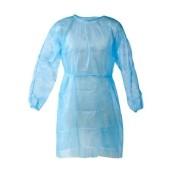Plášť návštěvnický IMMUNITY s gumičkou na rukávech, světle modrý, 10 ks