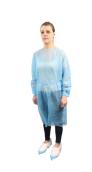 Plášť návštěvnický s gumičkou na rukávech, světle modrý, 10 ks