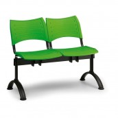 Plastová lavica zelená Visio - podnož čierna