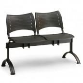 Plastová lavice černá Visio - podnož černá
