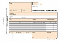 Příjmový pokladní doklad, 2 x 50 listů, číslovaný NCR