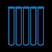Sklenené skúmavky na vzorky 16 mm, 16 x 100 x 0,8 mm, 78 ks