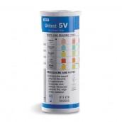 Uritest V5 - pH, bielkoviny, glukóza, ketolátky, krv, 100 ks