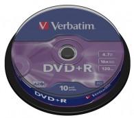 Verbatim DVD+R 4,7GB 16x, 10 ks