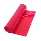 Vrece na odpad LDPE 70 x 110 cm 120 l T50 červené, 25 ks/rolka, nepriehľadné