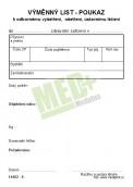 Výměnný list – poukaz – nelepený 80, 100 ks v balení