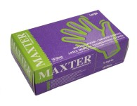 Vyšetřovací rukavice Maxter latex, pudrované, 100 ks
