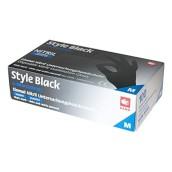 Vyšetřovací rukavice Style nitril, nepudrované, Black, 100 ks