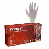 Vyšetrovacie rukavice Aurelia vintage, latex, púdrované, biele, 100 ks